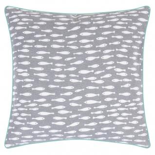 pad concept - Kissenhülle Maritim 40 x 40 cm Fische grey