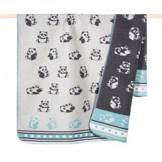 PAD Kuscheldecke PANDA Aqua 100 x 150 cm Baumwollmischung für Kinder