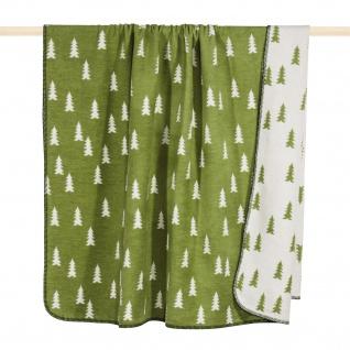 Pad Wolldecke Forrest 150 x 200 green | Baumwollmischung - Vorschau 1