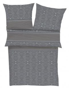 Ibena Mako-Satin Bettwäsche Zeitgeist 5841-610 ornamente grau 100 % Baumwolle