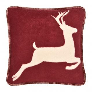 Pad Kissenhülle Hirsch 45 x 45 cm red mit Reißverschluss