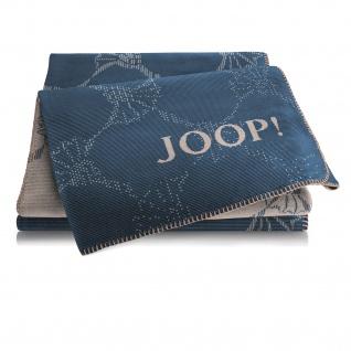 JOOP! CF Double Wohndecke Marine-Cashew 150 cm x 200 cm Baumwollmischung
