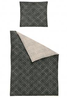 Irisette Edelflanell Bettwäsche Nubis 8300-11 grau Farbverlauf-Muster modern