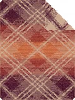 Ibena Wohndecke rot/braun Größe 150x200 cm Baumwollmischung