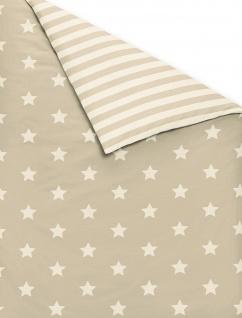 Irisette Fein-Biber Bettwäsche Dublin 8535-80 beige Sterne wärmend - Vorschau 2