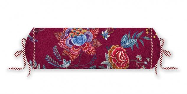 PIP Studio Nackenrolle Flower Festival Dark Red 22 x 70 cm Blumenmuster