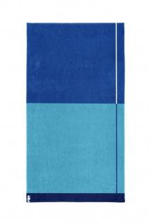 Seahorse Block - Strandlaken - 100 x 180 cm - blau 100% Baumwolle