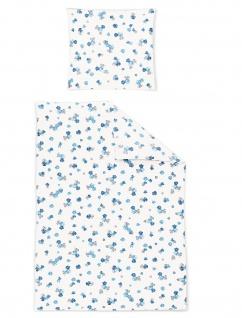 Irisette Jersey Bettwäsche Luna 8748-20 geblümt 100% Baumwolle pflegeleicht