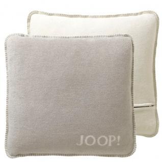 Joop! Kissenhülle Feder-Ecru uni 50 x 50 cm mit RV aus Baumwollmischung