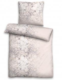 Biberna Edelflanell Bettwäsche 84331-019 grau aus 100% Baumwolle wärmend