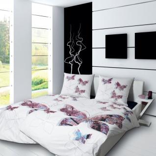 Janine Mako-Satin Bettwäsche Modern Art. 4112 Blumen Fotodruck