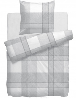 HnL Baumwoll-Satin Bettwäsche Cash grau 100% Baumwolle