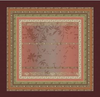Bassetti Tischdecke MALVE R1 rot grobe robuste Stoff-Qualität 170 x 170 cm