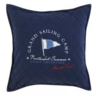 GRAND DESIGN Kissen GRAND SAILING navy 50 x 50 cm