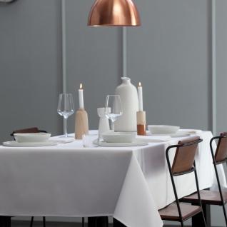 DDDDD Tischdecke 150 x 350 cm Latus white Damast klassisch elegant