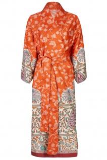 Bassetti Granfoulard Damen-Kimono Barisano O1 orange Ornamente 100% Baumwolle