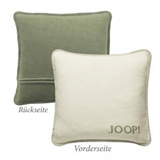JOOP! Kissen Uni-Doubleface Kissenbezug Ecru-Salbei 50 x 50 cm Wendeoptik