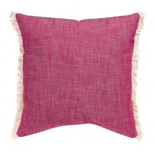 Winkler Kissenhülle JET 45 x 45 cm mit Fransen 100% Baumwolle einfarbig - Vorschau 5