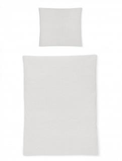 Irisette Bettwäsche Calypso 8726-11 Seersucker grau uni bügelfrei
