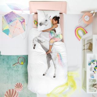 SNURK Kinder-Bettwäsche Unicorn - Einhorn 135 x 200 cm Digitaldruck Bio Cotton - Vorschau 4