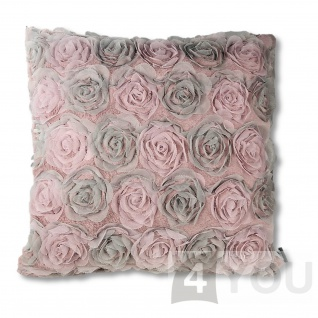 Pad Kissenhülle CINDERELLA 45 x 45 cm pink 100% Polyester romantisch
