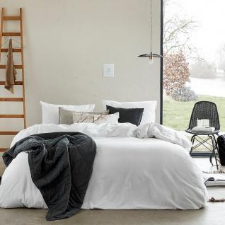 WALRA Bettwäsche Vintage Cotton weiß uni 100% Baumwolle User-Look