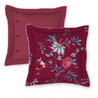 PIP Studio Zierkissen Flower Festival Dark Red 45 x 45 cm Blumenmuster