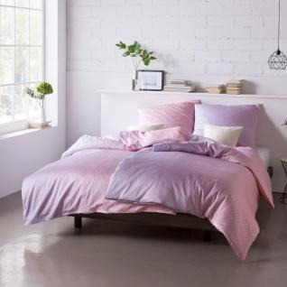 Estella Mako-Satin Bettwäsche MIRO lilac 7727-020 100% Baumwolle im Farbverlauf - Vorschau 1
