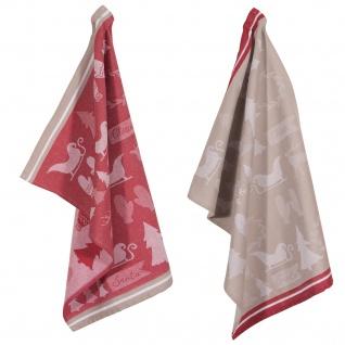 PAD Geschirrtuch Wrapping 2-er Packung 50 x 70 cm rot Baumwolle weihnachtlich