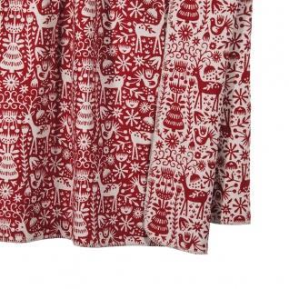 PAD Decke Wohndecke Scandi red Weihnachten 150 x 200 cm Baumwollmischung - Vorschau 2