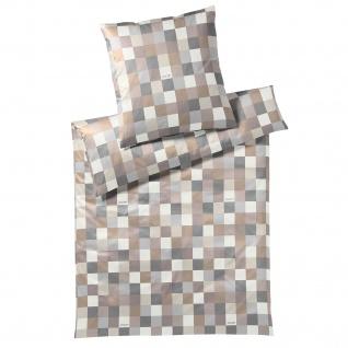 JOOP! Mako-Satin Bettwäsche Mosaik 4092-7 Sand Geometrisch modern - Vorschau 1