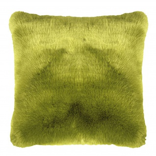 Pad Kissen SHERIDAN Felloptik green 45 x 45 cm modern exklusiv