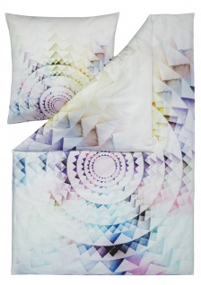 Estella Mako-Satin Wendebettwäsche CIRCLE multicolor 100% Baumwolle