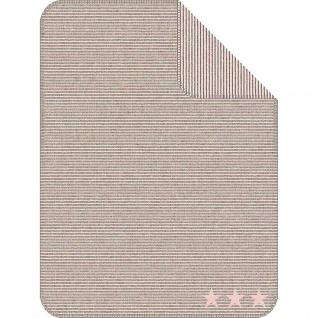 Ibena Jacquard Kinder Kuscheldecke LELU 75 x 100 cm baumwollmischung gestreift mit Sternen - Vorschau 2