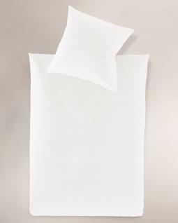 Irisette Bettwäsche Calypso 8726-10 Seersucker weiß bügelfrei 100 % Baumwolle