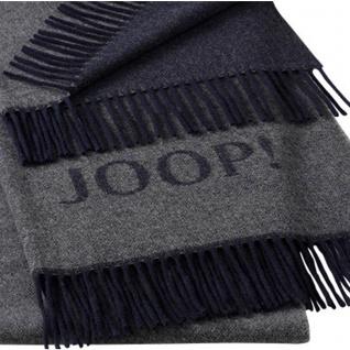 JOOP! Caress Wohnschal Plaid Schiefer 70 cm x 190 cm Wolle-Kaschmir Mischung - Vorschau 2
