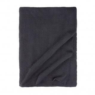 Walra Wohndecke Strickplaid Cozy Knit anthrazit 130 x 180 cm 100 % Baumwolle