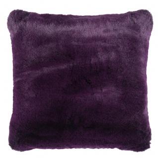 Pad Kissen Kunstfell CHAMPAGNE 48 x 48 cm purple
