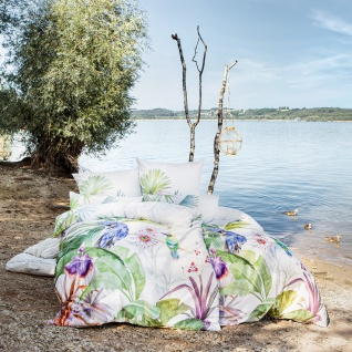 Estella Mako-Satin Bettwäsche Jungle 4744-985 multicolor 100% Baumwolle