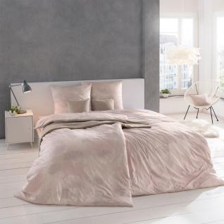 Estella Mako- Interlock-Jersey Bettwäsche Isabella 6862-400 rosa 100% Baumwolle Ginkgoblätter