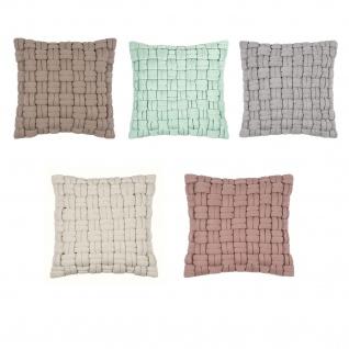 pad Kissenhülle Løkken 45 x 45 cm in verschiedene Farben modern grob geflochtenen