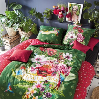 Irisette Mako-Satin Bettwäsche Set Juwel-K 8823-90 multi Wendeoptik Digitaldruck