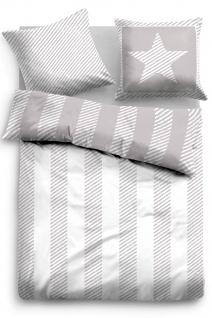 Tom Tailor Baumwoll Bettwäsche 49759-844 grey 100% Baumwolle modern