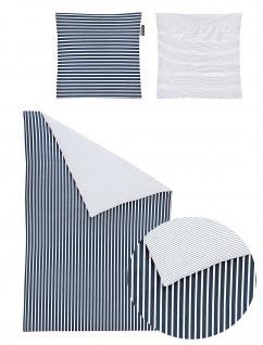 Irisette Mako-Satin Bettwäscheset Nora 8255-21 blau 100% Baumwolle