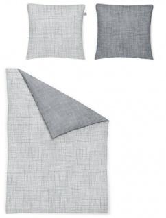 Irisette Mako-Satin Bettwäsche Sol-K grafisch grau 8054-20 aus 100% Baumwolle