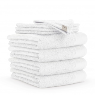 WALRA Frottierserie Soft Cotton weiss 100% Baumwolle uni klassisch
