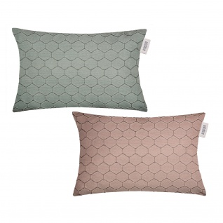 Schöner Wohnen Kissenhülle Honeycomb 38 x 58 cm 100% Polyester mit RV in 2 Farben