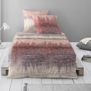 Irisette Biber Bettwäsche Feel rot 8127-60 aus 100% Baumwolle Farbverlauf