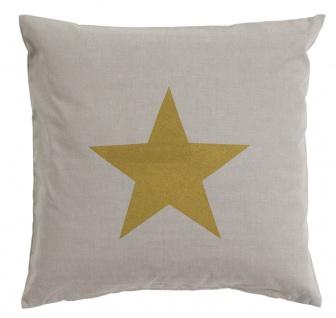 Scantex Kissenhülle Stella 50 x 50 cm sterling-gold Baumwolle mit RV Stern