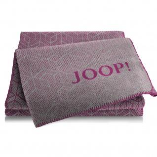 JOOP! Wohndecke Metric Graphit-Beere 150 cm x 200 cm Baumwollmischung